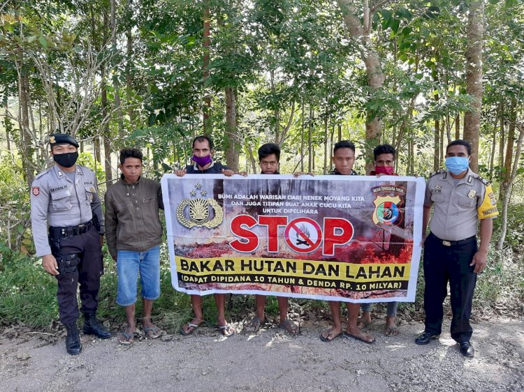 Polres Sumba Timur Gencar Sosialisasi Karhutla