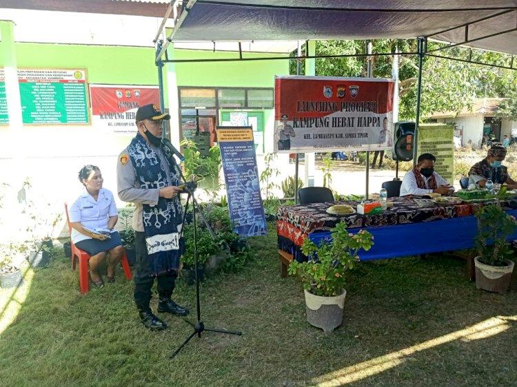 Kapolres Sumba Timur : Kampung Hebat Happa Lambanapu Bisa Jadi File Project di Kabupaten Sumba Timur
