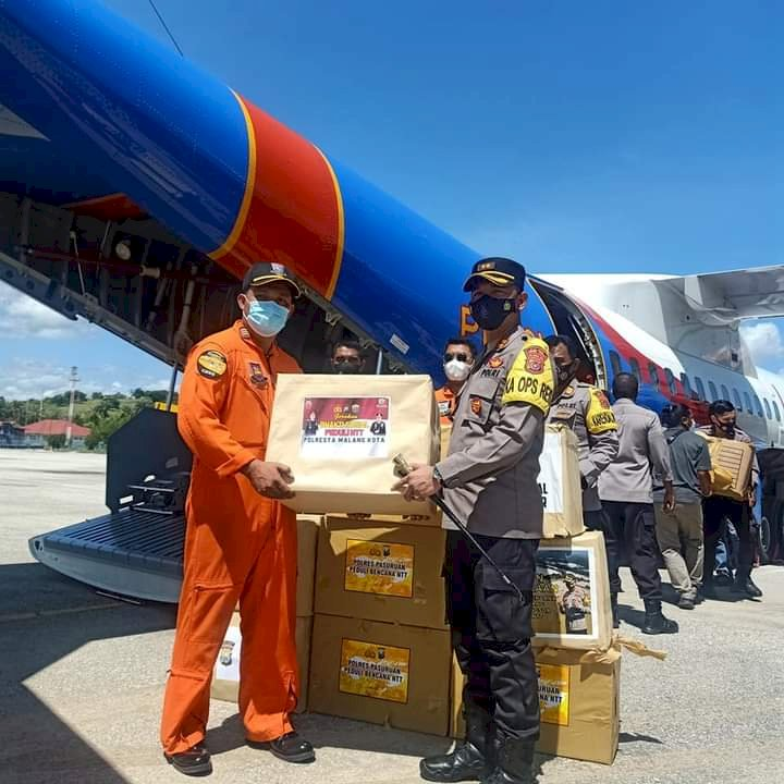 437 Koli Bantuan Mabes Polri Untuk Korban Bencana Akan Disalurkan Polres Sumba Timur