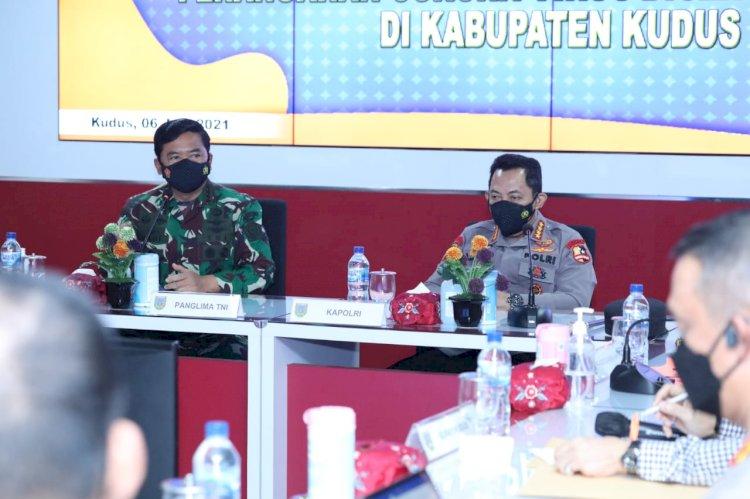 Cek Penanganan Covid 19 di Kudus, Panglima TNI, Kapolri dan Kepala BNPB Perintahkan Ini