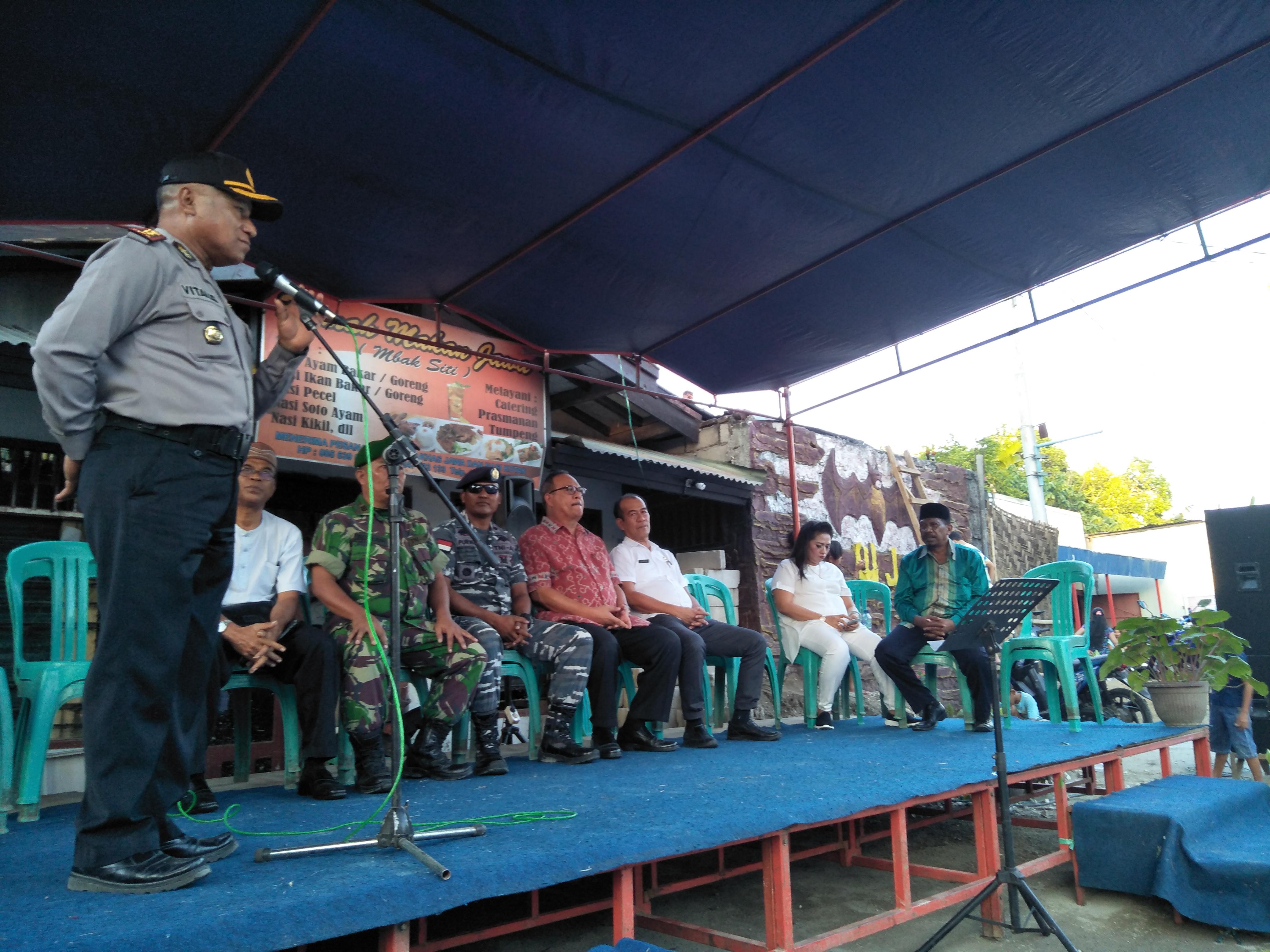 Wakapolres Sumba Timur Sampaikan Ucapan Terima Kasih Atas Dukungan Masyarakat Kepada TNI - Polri Dalam Menjaga Keutuhan NKRI