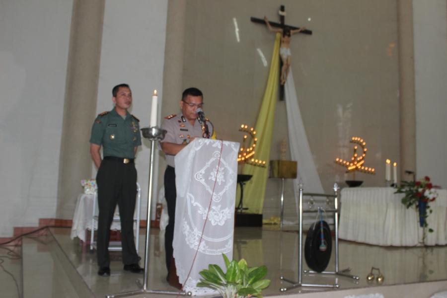 4 Point  Pesan Kamtibmas Yang Di Sampaikan Kapolres Sumba Timur Dalam Ibadah Misa Hari Minggu Di Gereja Katholik Kristus Sang Penebus Wara