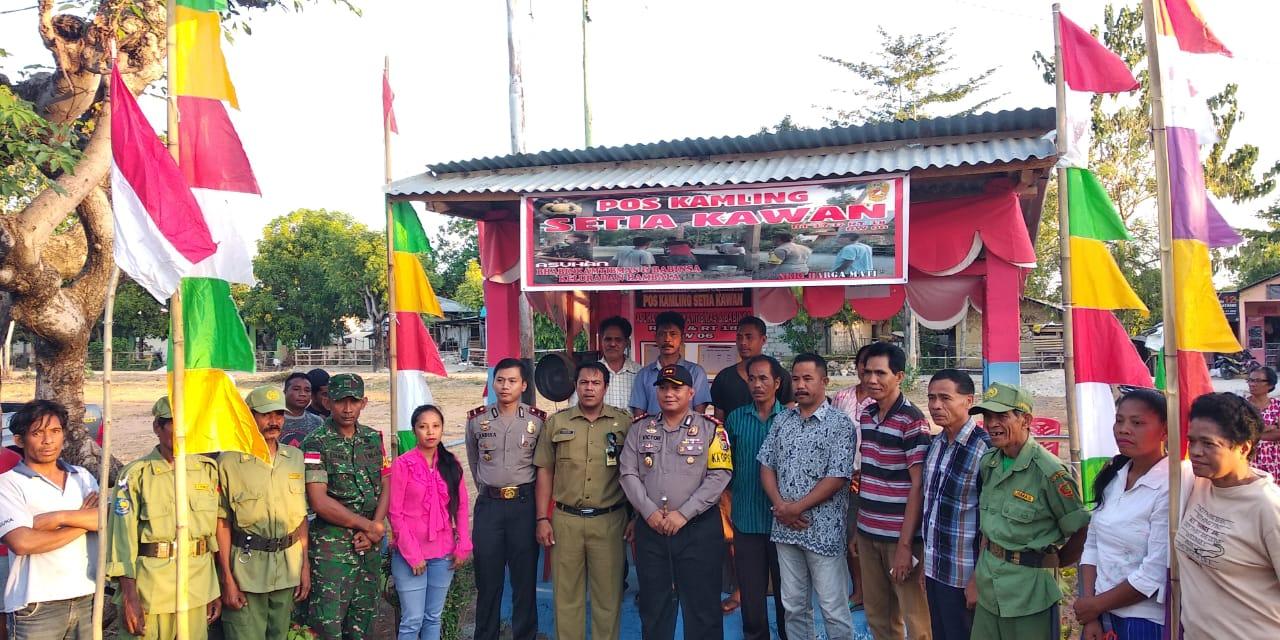 "Pos Kamling "" Setia Kawan "" Hambala, Pos Kamling Ke 253 Yang Diresmikan Kapolres Sumba Timur Sejak Tahun 2017"