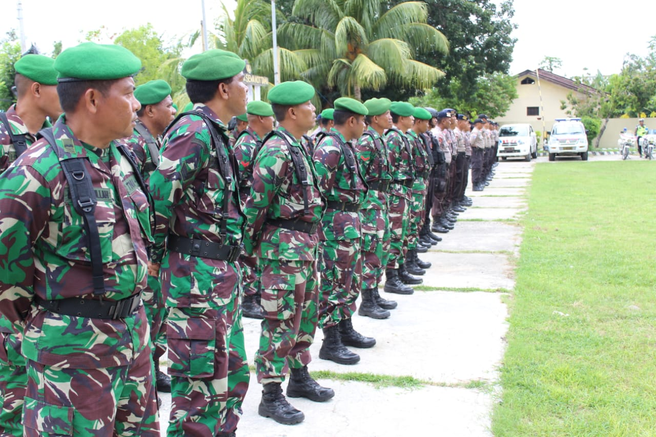 Serpas Pengamanan Pemilu Serentak, TNI Polri di Sumba Timur Apel Bersama