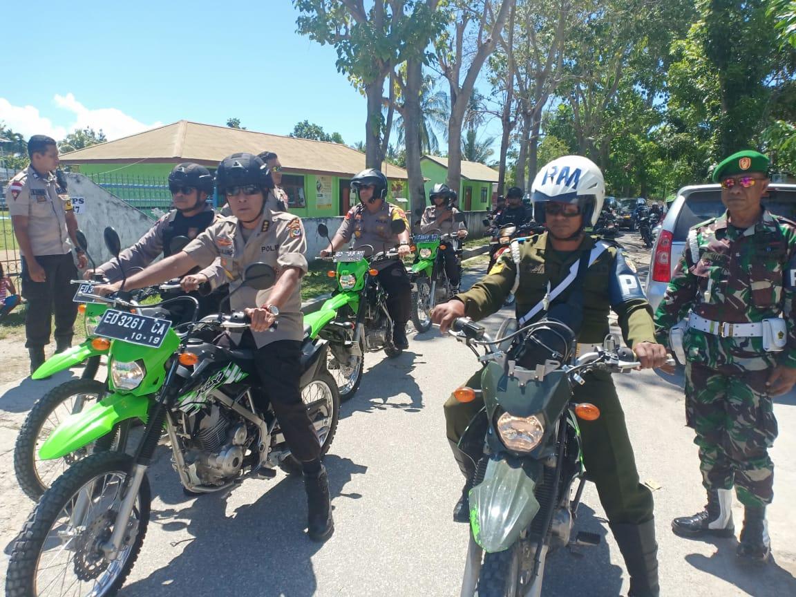 Pacsa Pemilu 2019, Kapolres Sumba Timur Gencar Patroli Bareng TNI