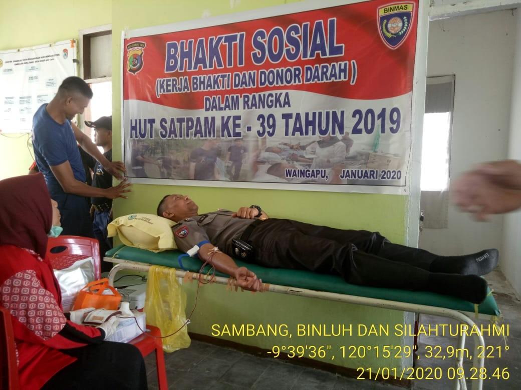 Peringati HUT Satpam ke 39, Polres Sumba Timur Gelar Aksi Donor Darah