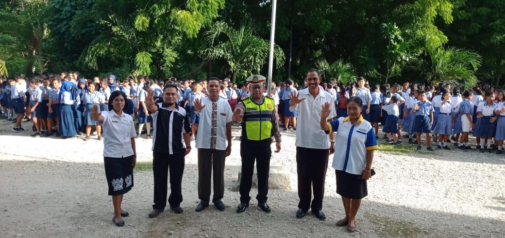 Police Goes to School, Kasat Lantas Kembali Ingatkan Pelajar Dibawah Umur Tidak Gunakan Kendaraan Bermotor